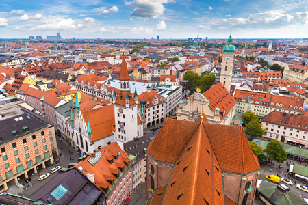 Aerial view of Munich in a summer day in Germany Reklamní fotografie