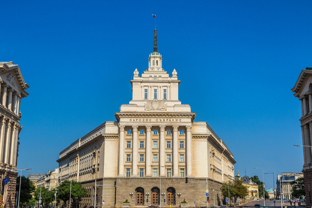 National assembly building in Sofia, Bulgaria in a summer day