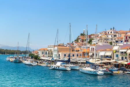 Poros island in a summer day in Greece