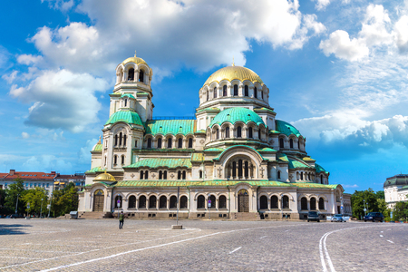 The Alexander Nevsky cathedral in Sofia, Bulgaria in a summer day