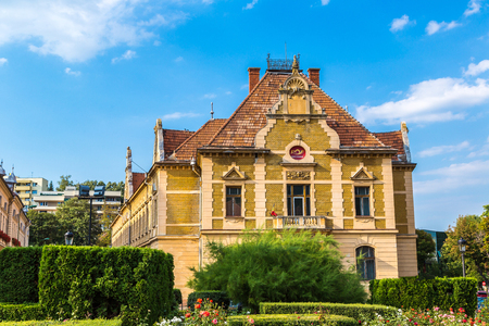 Post office in Brasov in a summer day, Transylvania, Romania Editorial