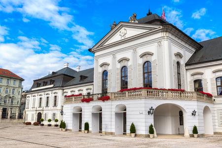 Grassalkovichov palace in Bratislava in a summer day, Slovakia Editorial
