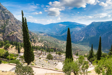 Ancient theater in Delphi, Greece in a summer day Reklamní fotografie