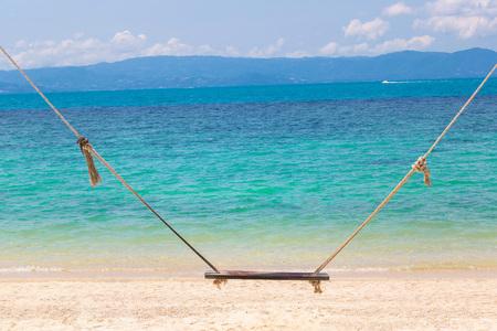 Swing on Koh Samui island, Thailand in a summer day Фото со стока