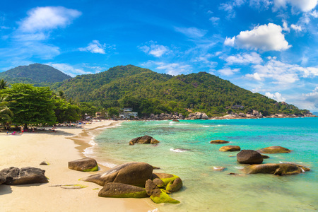 Silver Beach on Koh Samui island, Thailand in a summer day