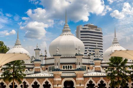 Sultan Abdul Samad Jamek Mosque (Masjid Jamek) in Kuala Lumpur, Malaysia at summer day Editorial