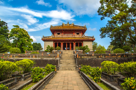 Imperial Minh Mang Tomb in Hue, Vietnam in a summer day