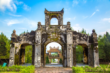 Temple of Literature in Hue, Vietnam in a summer day Stock fotó - 108410579