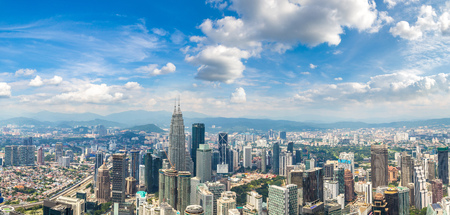 Panorama of Kuala Lumpur, Malaysia at summer day