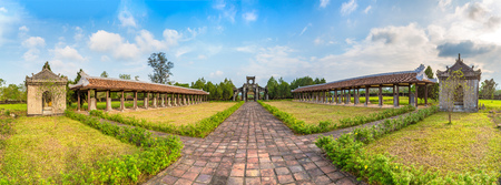 Panorama of Temple of Literature in Hue, Vietnam in a summer day