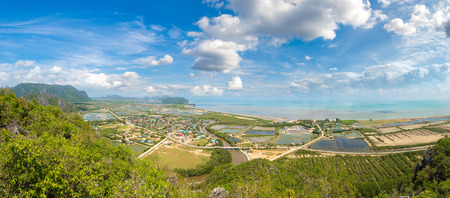 Panorama of Khao Sam Roi Yot National Park, Thailand in a summer day Reklamní fotografie