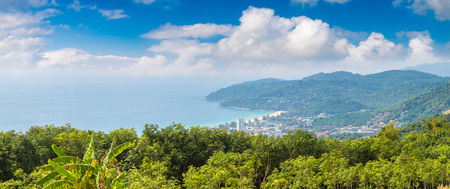 Panorama of  Phuket in Thailand in a summer day