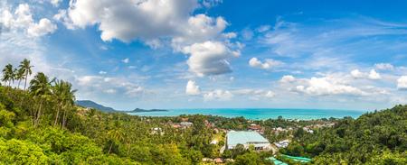 Panorama of Koh Samui island, Thailand in a summer day Reklamní fotografie