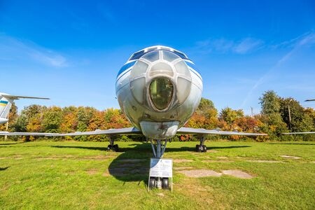 KIEV, UKRAINE - OCTOBER 6, 2018: Kiev National Aviation Museum in a sunny day next to Zhulyany Airport in Kiev, Ukraine Редакционное