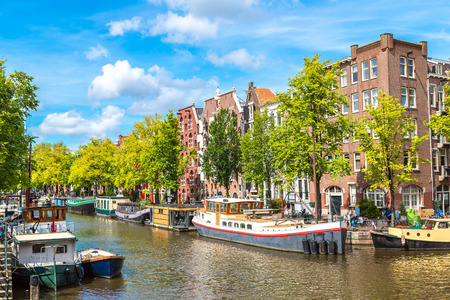 Canals of Amsterdam. Amsterdam is the capital and most populous city of the Netherlands Stockfoto