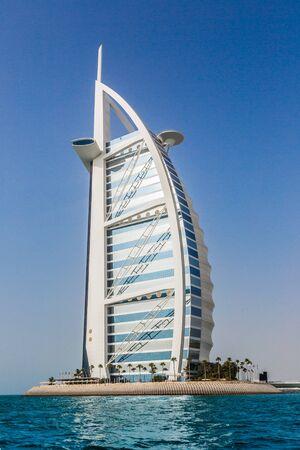 DUBAI, UAE - NOVEMBER 14, 2014: The world's first seven stars luxury hotel Burj Al Arab, November 14, 2014 in Dubai, United Arab Emirates
