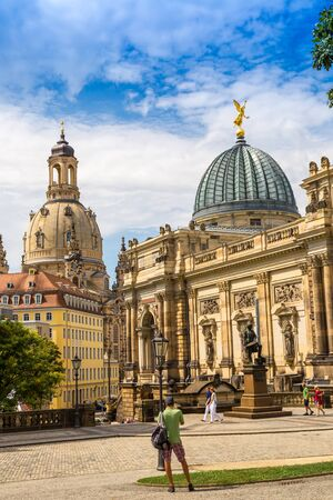 DRESDEN, GERMANY - JULY 11, 2014: Dresden Academy of Fine Arts  in a beautiful summer day, Germany on July 11, 2014