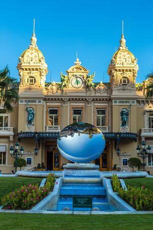 MONTE CARLO - JULY 17, 2014: Grand casino in Monte Carlo in Monaco in a summer day on July 17, 2014