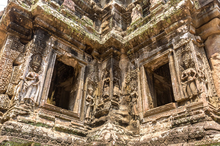 Chau Say Tevoda temple ruins is Khmer ancient temple in complex Angkor Wat in Siem Reap, Cambodia in a summer day