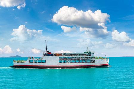 Ferry near Koh Phangan island, Thailand in a summer day