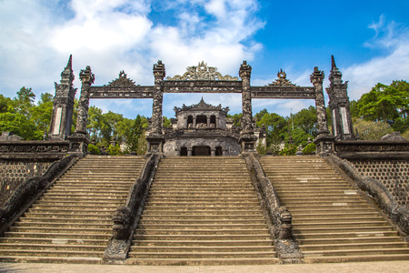Tomb of Khai Dinh in Hue, Vietnam in a summer day
