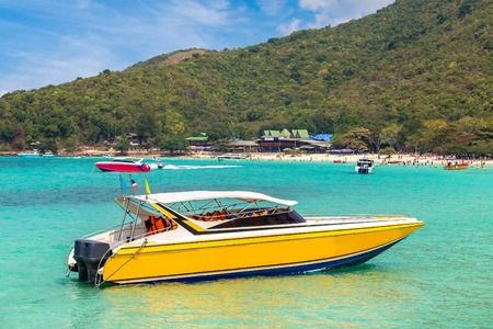 Koh Lan island, Thailand in a summer day Stock Photo