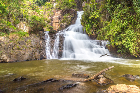 Datanla Waterfall in Dalat, Vietnam in a summer day