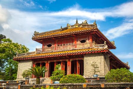 Imperial Minh Mang Tomb in Hue, Vietnam in a summer day Redakční