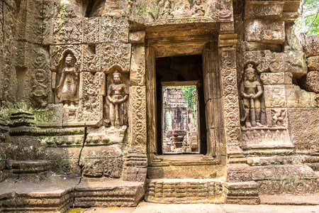 Ta Som temple in complex Angkor Wat in Siem Reap, Cambodia in a summer day