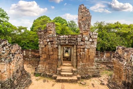 East Mebon temple in complex Angkor Wat in Siem Reap, Cambodia in a summer day