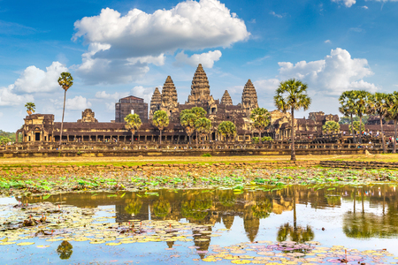 Angkor Wat temple in Siem Reap, Cambodia in a summer day