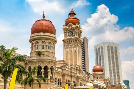 KUALA LUMPUR, MALAYSIA - JUNE 12, 2018: Sultan Abdul Samad building in Kuala Lumpur, Malaysia at summer day