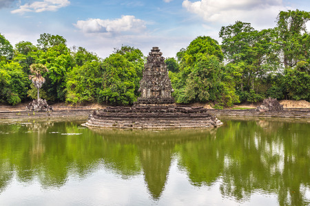 Neak Pean temple in complex Angkor Wat in Siem Reap, Cambodia in a summer day