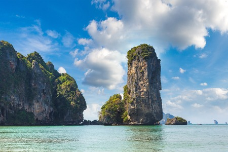 Ao Pai Plong beach, Krabi, Thailand in a summer day