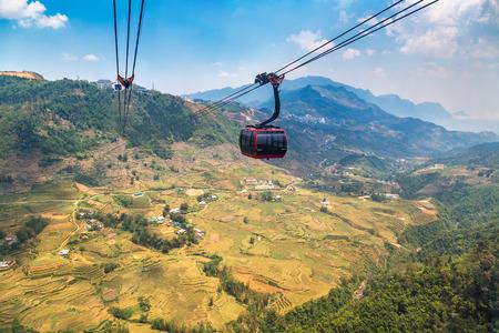 Fancipan Cable Car in Sapa, Lao Cai, Vietnam in a summer day Reklamní fotografie