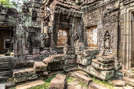 Banteay Kdei temple is Khmer ancient temple in complex Angkor Wat in Siem Reap, Cambodia in a summer day Фото со стока