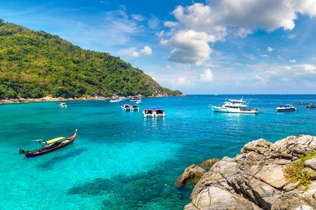 Racha (Raya) resort island near Phuket island, Thailand in a summer day