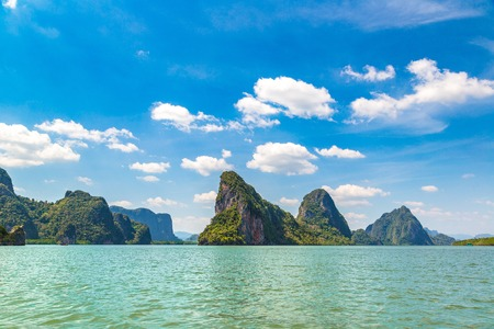 Ao Phang Nga national park, Thailand in a summer day