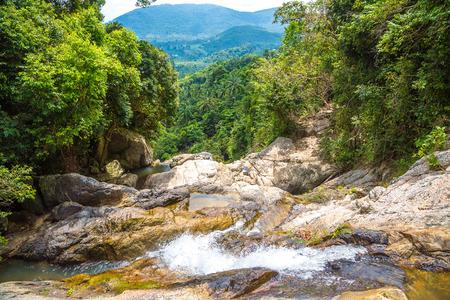 Namuang waterfall on Koh Samui island, Thailand in a summer day Zdjęcie Seryjne