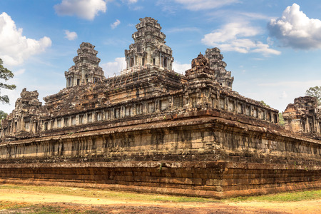 Ta Keo temple ruins is Khmer ancient temple in complex Angkor Wat in Siem Reap, Cambodia in a summer day
