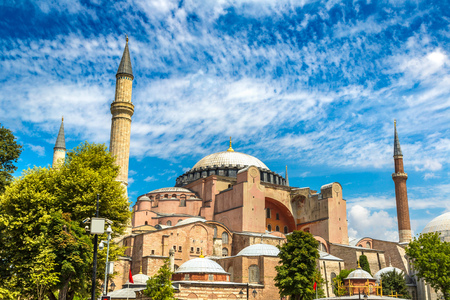 Hagia Sophia in Istanbul, Turkey in a beautiful summer day 版權商用圖片