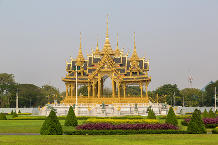 Memorial Crowns of the Auspice in Bangkok, Thailand in a summer day