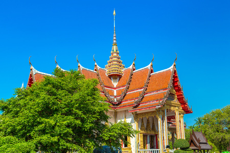 Wat Chalong temple in Phuket in Thailand in a summer day