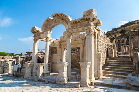 Ruins of the ancient city Ephesus, the ancient Greek city in Turkey, in a beautiful summer day Redakční