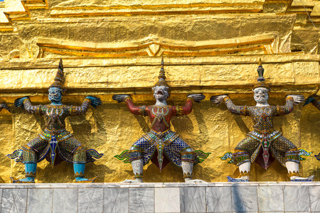 Grand Palace and Wat Phra Kaew (Temple of the Emerald Buddha) in Bangkok in a summer day Reklamní fotografie