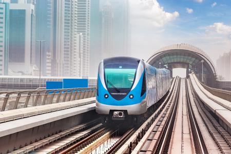 Dubai metro railway in a summer day in Dubai, United Arab Emirates Reklamní fotografie