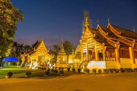 Wat Phra Singh - Buddhists temple in Chiang Mai, Thailand in a summer day Redakční