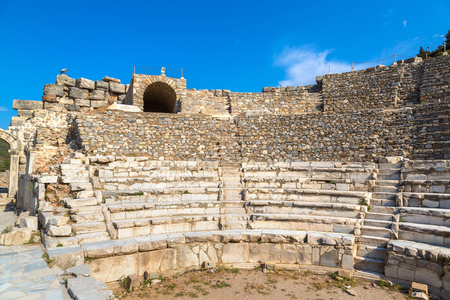 Odeon - small theater in ancient city Ephesus, Turkey in a beautiful summer day Redakční
