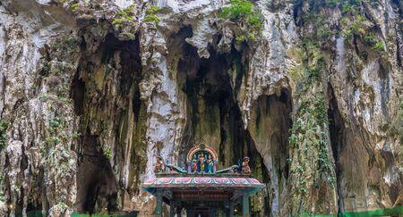 Panorama of Batu cave in Kuala Lumpur, Malaysia at summer day