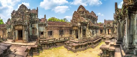 Panorama of Banteay Samre temple in complex Angkor Wat in Siem Reap, Cambodia in a summer day 免版税图像
